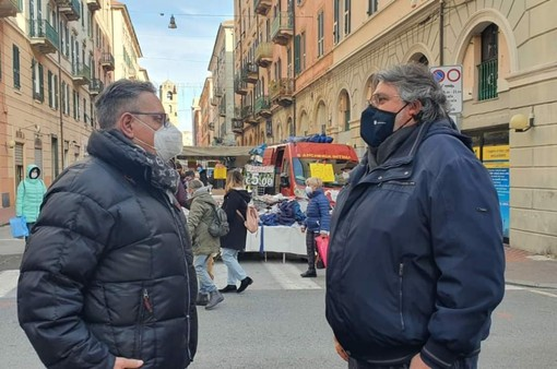 Amedeo Mosca, presidente Fiva con il consigliere regionale Angelo Vaccarezza