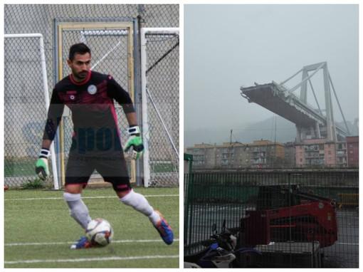Davide Capello coinvolto nel crollo del Ponte Morandi, il portiere del Legino è miracolosamente sopravvissuto dopo un volo di 50 metri