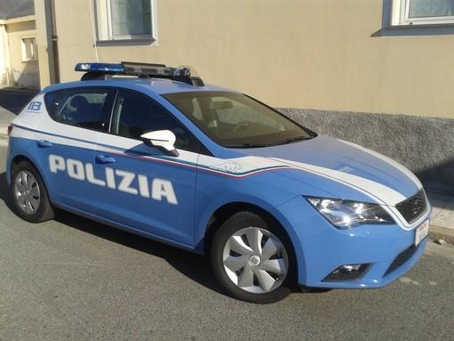 Pattuglione della polizia di stato ad Alassio e Albenga
