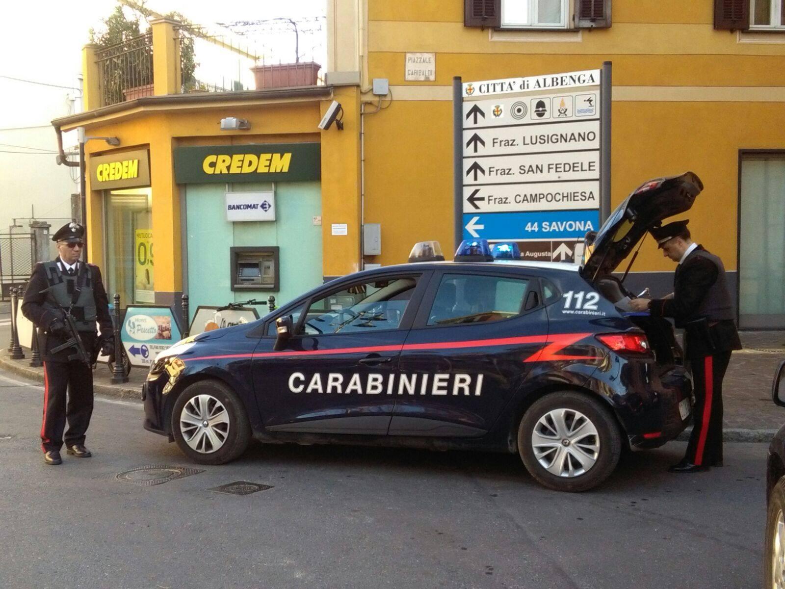 Vasta operazione antidroga su tutto il territorio della Compagnia dei Carabinieri di Albenga