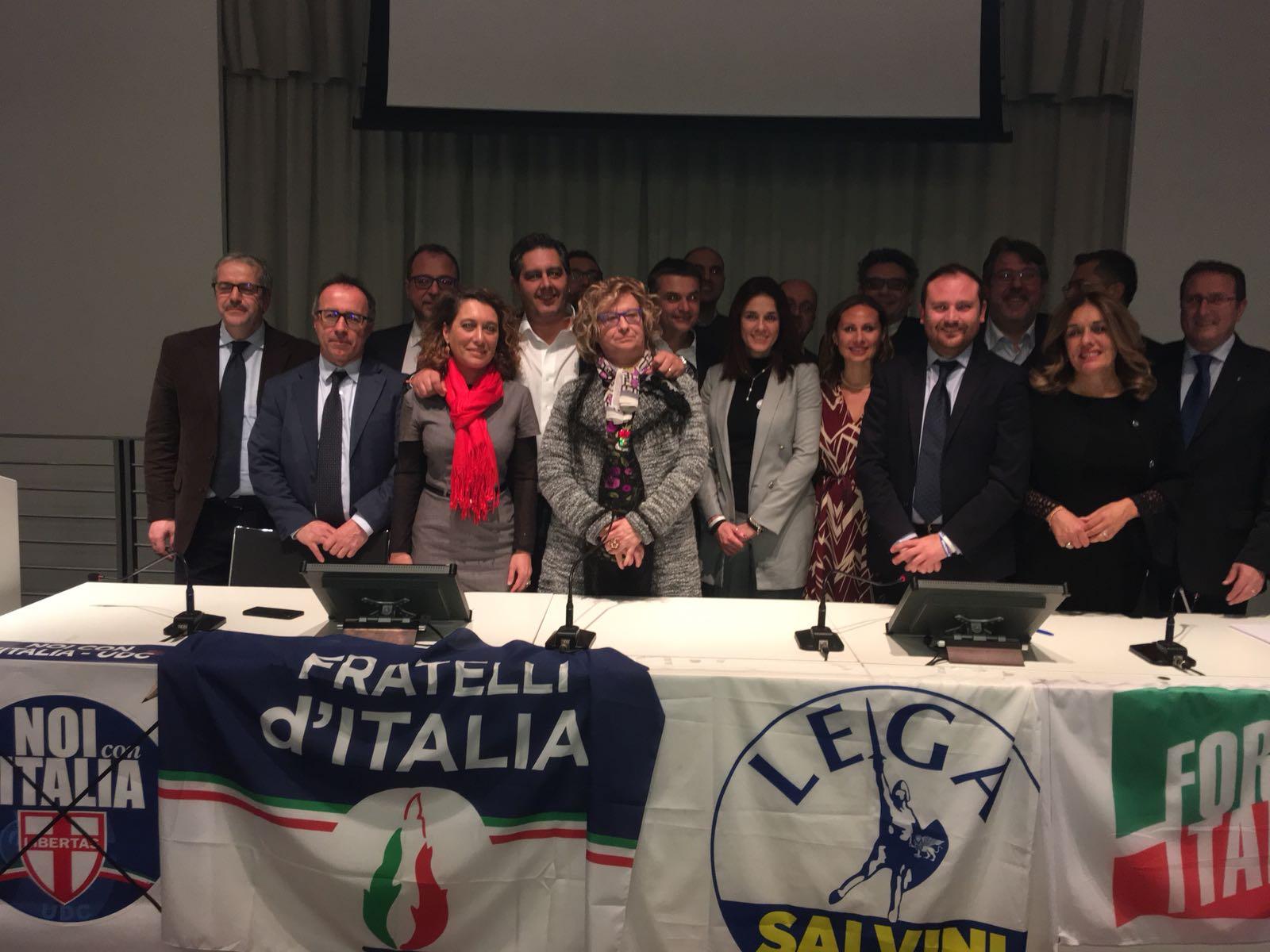 Savona, presentati i candidati della coalizione del centrodestra
