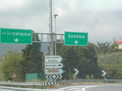 Complanare di Savona:  da oggi chiusure notturne del bivio con la A6 Torino Savona