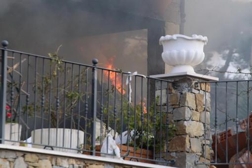 Crollo di parte di un'abitazione a Sanremo, nella villa anche Gabriel Garko