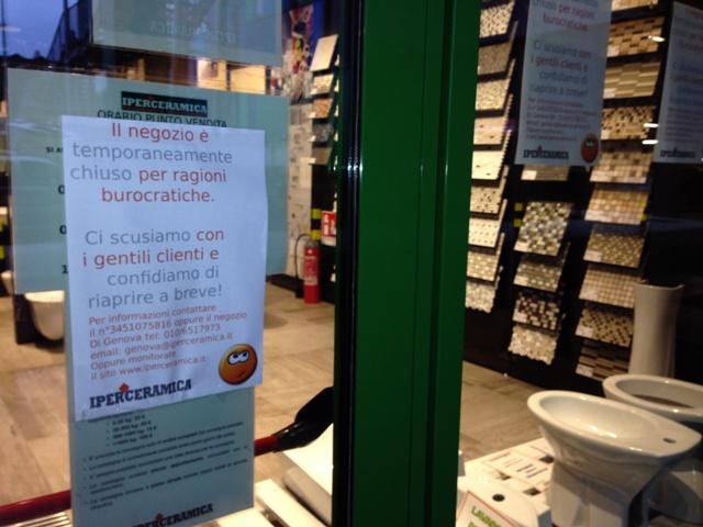 quando la burocrazia fa tardare l'apertura o chiudere un negozio ... - Arredo Bagno Savona E Provincia