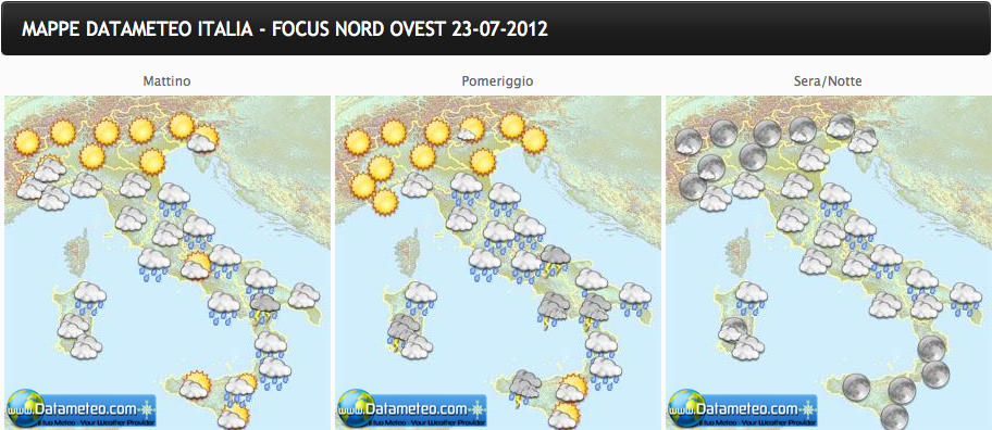 Le previsioni meteo per oggi e fino a marted 24 luglio - Meteo it bagno di romagna ...
