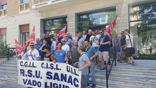 Anche i lavoratori della Sanac di Vado Ligure a Roma per lo sciopero del personale di Arcelor Mittal