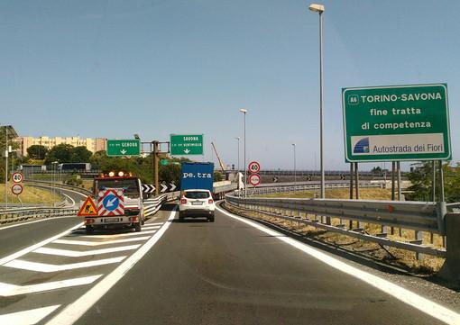 Autostrada dei Fiori: tra il 30 settembre e il 1°ottobre chiusura notturna della A6