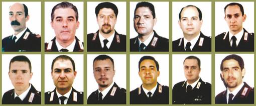 Le vittime della strage (foto tratta dal sito dell'Arma dei Carabinieri)