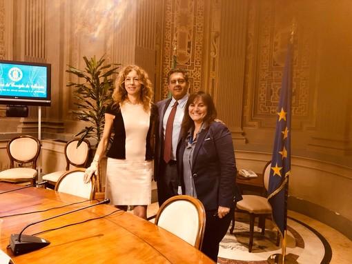 Autonomia Liguria, il presidente Toti e vicepresidente Viale incontrano il neo ministro agli Affari Regionali Erika Stefani