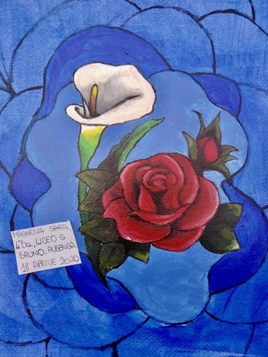 Albenga:  i ragazzi del Liceo Artistico disegnano un fiore per medici, infermieri e persone colpite dal Coronavirus (FOTOGALLERY)