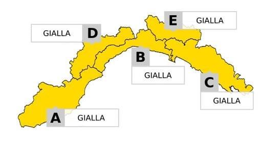 Maltempo: lunedì 3 agosto allerta meteo gialla per temporali su tutta la Liguria