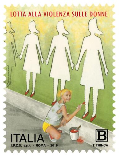 Lotta alla violenza sulle donne: emesso francobollo