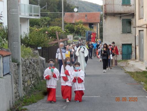 Mallare, processione al santuario di Santa Maria dell'Eremita (FOTO)