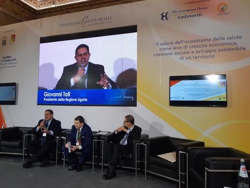 """Sanità. Toti al convegno del Forum Ambrosetti a Palermo: """"Dal confronto tra regioni la sostenibilità dell'intero sistema"""""""