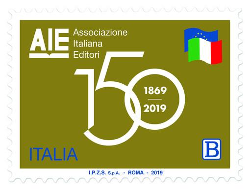 150° anniversario della costituzione dell'Associazione Italiana Editori: ecco il francobollo celebrativo
