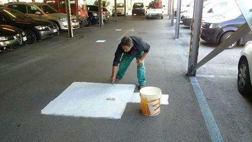 Savona, rimosse svastiche e scritte spray in via Piave