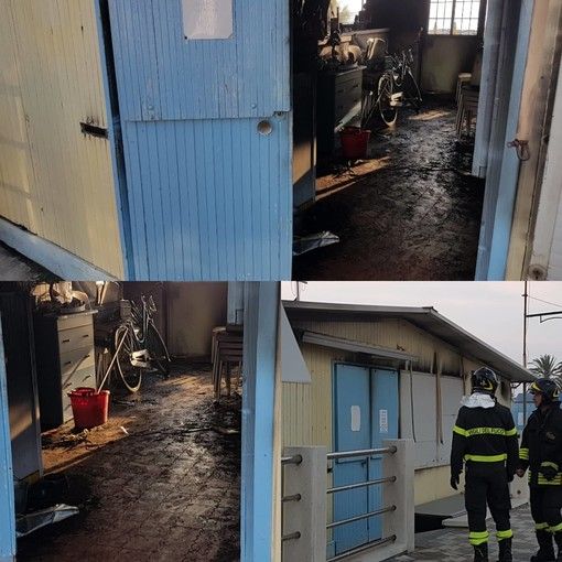 Incendio in uno stabilimento balneare ad Albenga (FOTO e VIDEO)