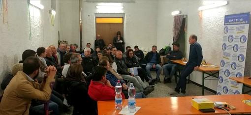 Andora, partecipazione all'incontro della lista Andora Più - Demichelis Sindaco nella frazione di Conna