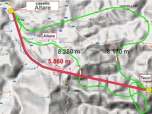 Alternative alla Albenga-Predosa: nuovo tratto A6 e nodo autostradale savonese