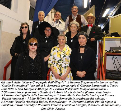 Albenga, riprese le rappresentazioni teatrali dialettali a San Giorgio (FOTO)