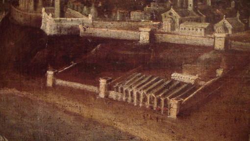 Un quadro dipinto tra fine Cinquecento e inizio Seicento che raffigura l'antico Arsenale