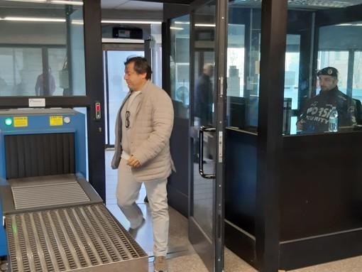 Andrea Nucera arriva in tribunale a Savona per l'interrogatorio di garanzia (FOTO)