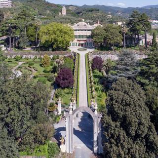 Uno scorcio dall'alto di Villa Durazzo Faraggiana (foto Davide Marcesini)