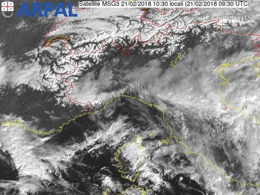 Allerta meteo gialla per neve in arrivo su tutta la Liguria