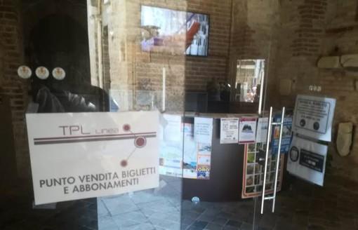 TPL Linea ad Albenga: servizio biglietteria all'ufficio IAT