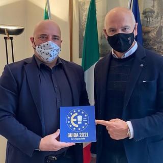 """L'assessore regionale Berrino incontra il presidente di Euro-Toques: """"Nella guida 2021 dieci ristoranti liguri"""""""