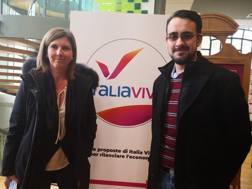 Valerio Ferrari e Barbara Pasquali: delegazione ligure alla convention torinese di Italia Viva