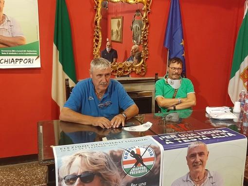 """Savona, il candidato Chiappori presenta la sua """"Grande Liguria"""": """"Saremo una ventata di aria nuova"""""""