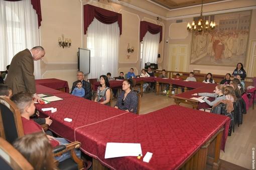 Il sindaco di Alassio incontra gli allievi della prima media salesiana