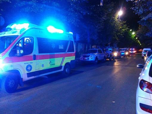 Tutti i Vigili del fuoco, le pubbliche assistenze, le forze dell'ordine i gruppi di protezione civile del comprensorio schierati ad Albenga per commemorare i tragici fatti di Alessandria
