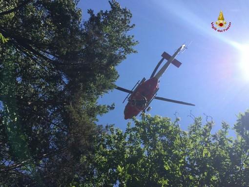Scontro tra due moto a Sassello: interviene l'elicottero