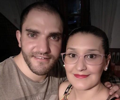 Davide Pittella con la compagna Agustina