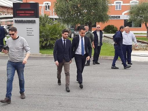 Bombardier: Di Maio a Vado Ligure conferma il 6 giugno come data per l'incontro al MiSE