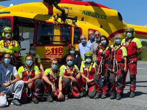 Elisoccorso, a Villanova d'Albenga prosegue l'addestramento squadra del personale medico