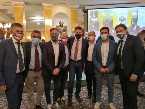 A Roma la riunione dei neoeletti consiglieri regionali della Lega con Matteo Salvini: presenti i savonesi Brunetto e Mai