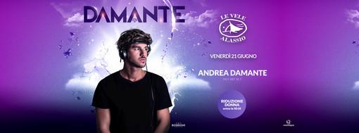 Andrea Damante protagonista di venerdì prossimo a Le Vele Alassio