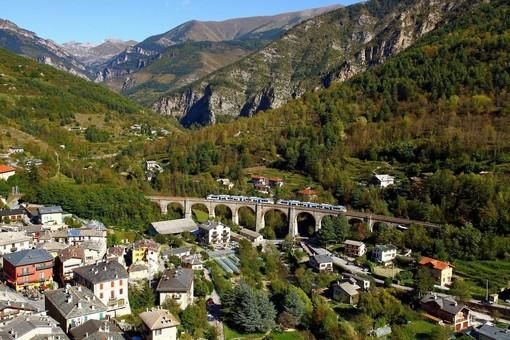 Una spendida immagine della Ferrovia Cuneo-Ventimiglia-Nizza