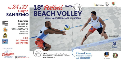 Beach Volley, a giugno le spiagge del centro di Sanremo saranno la capitale dei 'beachers' nazionali