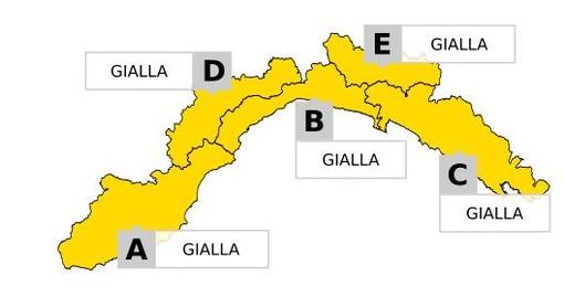 Maltempo: l'Arpal conferma allerta Gialla per piogge diffuse su tutta la Liguria fino alle 14.00 di domani