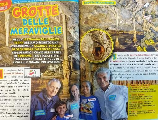 Le grotte di Toirano scelte da Topolino Magazine per celebrare la settimana del Pianeta Terra