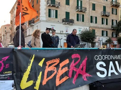 Savona ricorda in piazza Sisto le vittime delle mafie (FOTO e VIDEO)