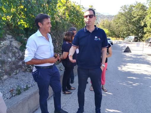 L'assessore regionale Giampedrone in visita a Giustenice e Tovo San Giacomo: visionati i lavori finanziati dalla Regione (FOTO e VIDEO)