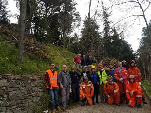 Protezione Civile e Volontariato per la Pulizia del Parco del Santuario della Madonna delle Guardia