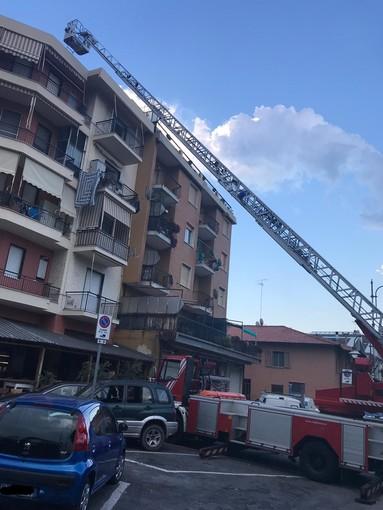 Albenga: incendio alla canna fumaria dell'angusteria di Vadino, intervento dei vigili del fuoco