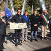 """Murialdo, inaugurato il nuovo ponte delle Fucine: """"Orgoglio dei murialdesi"""" (FOTO e VIDEO)"""