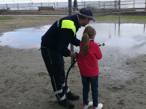 Andora, corso di protezione civile per i bambini alla Colonia di Milano